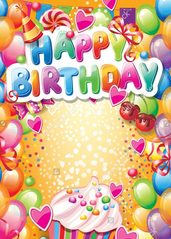 Printable Birthday Card Design