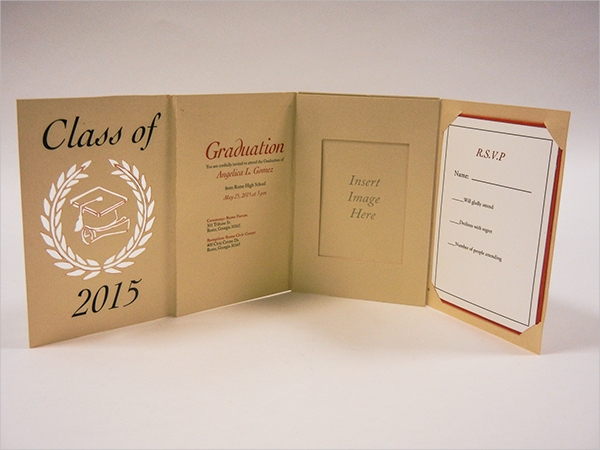 Printable Custom Graduation Invitation Card Design