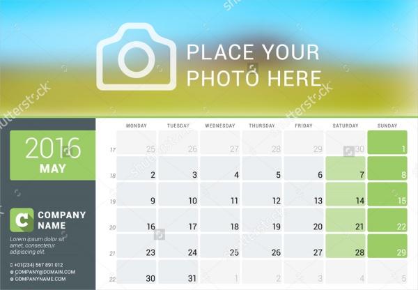 Printable Event Calendar Design