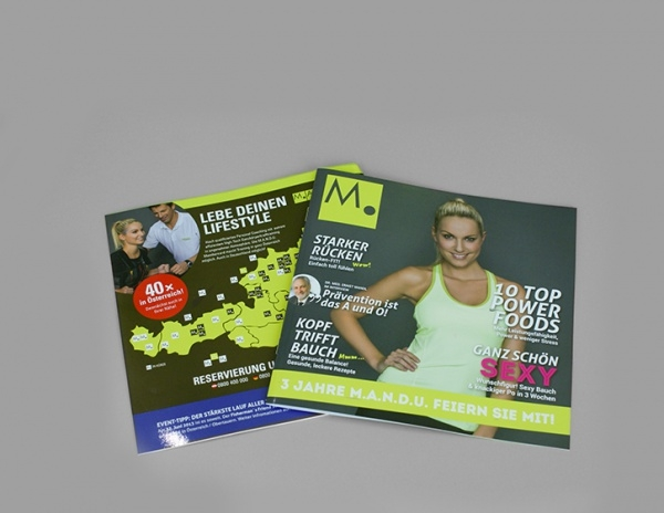 Printable Fitness Magazine Design