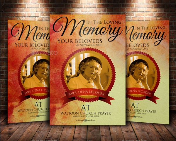 21 Funeral Flyers PSD INDD AI Download – Funeral Poster Templates
