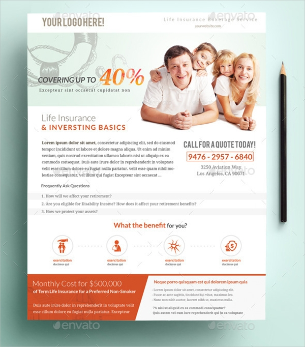 Printable Insurance Flyer Design