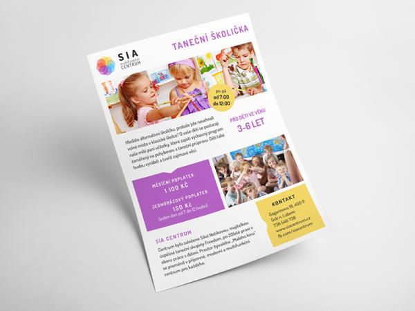 Printable Kindergarten Flyer Design
