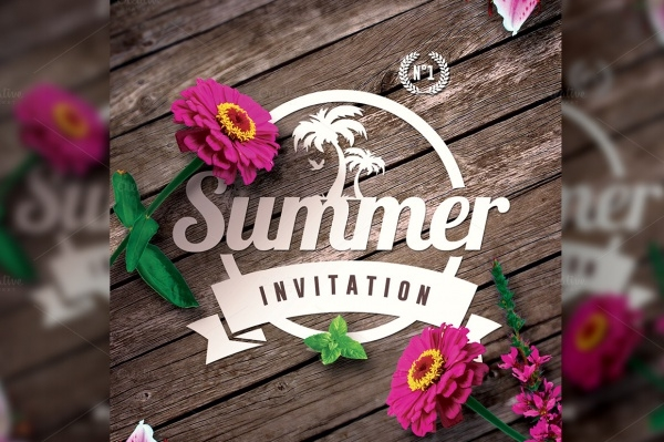 Printable Summer Party Invitation Design