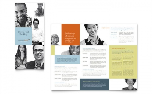 Private Bank Tri Fold Brochure Template