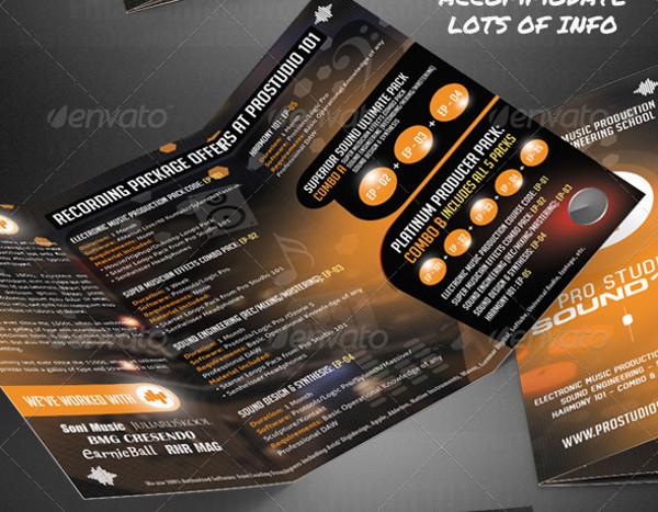 Pro Music Studio Trifold Brochure 1