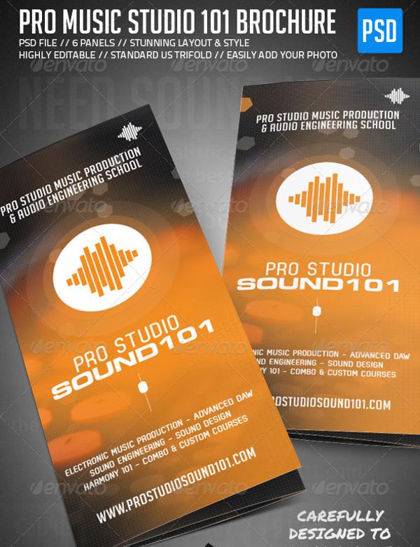 21 Music Brochure Templates PSD Vector EPS JPG Download – Studio Brochure