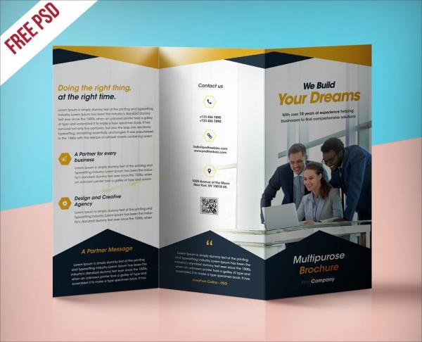 Professional Corporate Brochure Free PSD