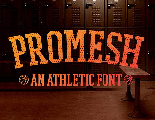 Promesh Varsity Font Family