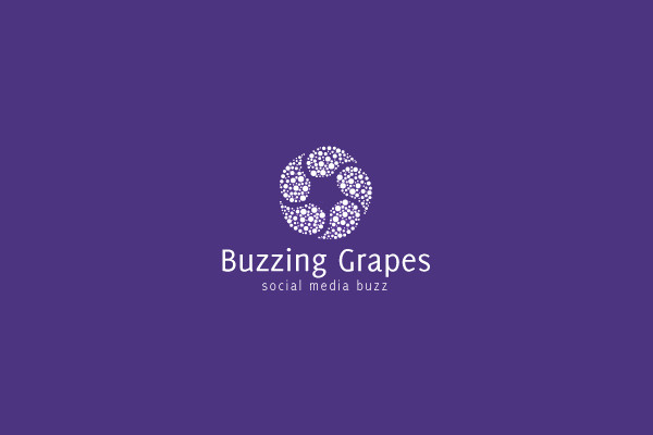 Purple Buzz Media Logo Design