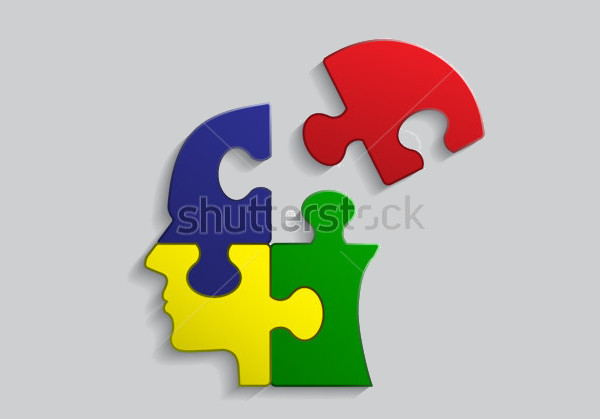 Puzzle Illustrator Head Vector