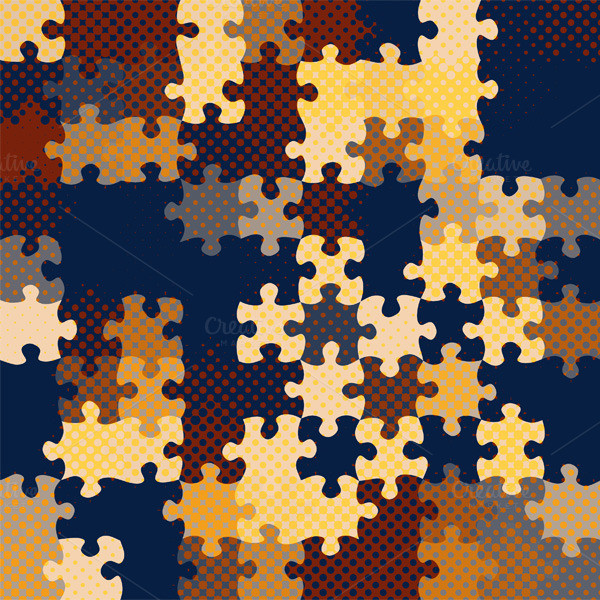 Puzzle Photoshop Pattern Template