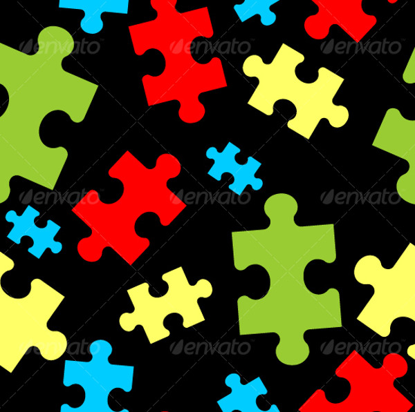 Puzzle Seamless Ornamental Pattern
