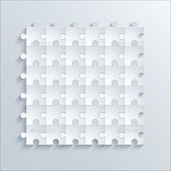 Puzzle Thin Outline Vector