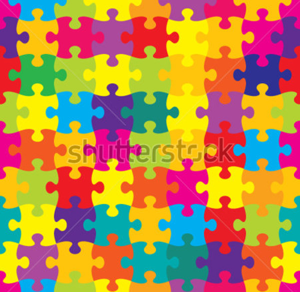 Puzzle Vector Pattern Design