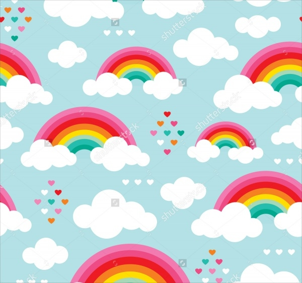 rainbow sky pattern design