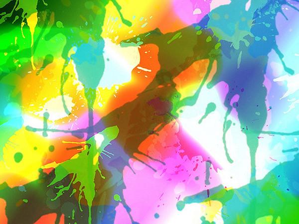 Rainbow Splatter Textures