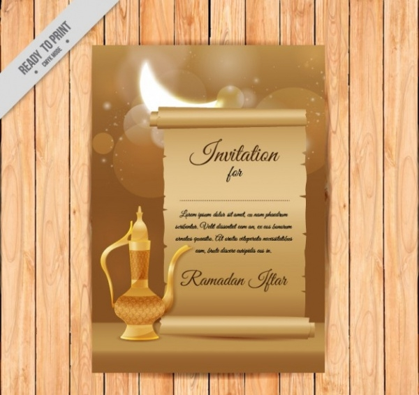 Ramadan Invitation Flyer With Teapot