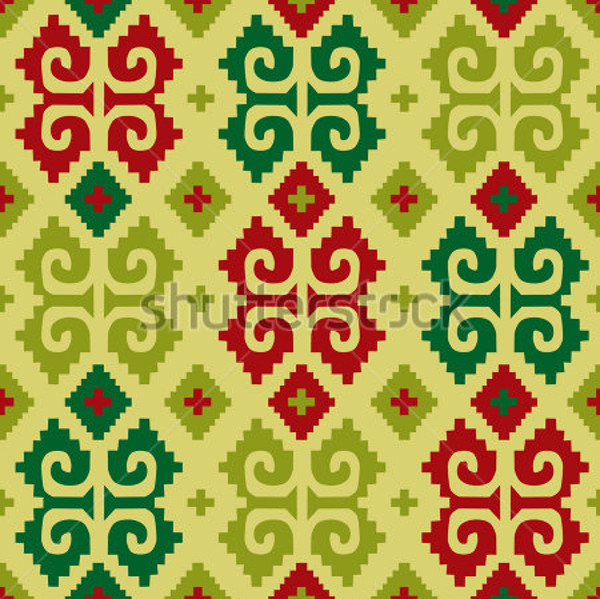 Raster Mexican Seamless Pattern