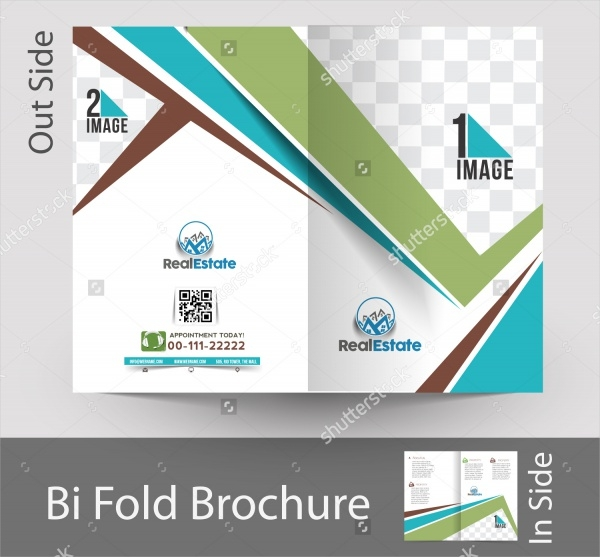 Real Estate Agent Apartment Bi-fold Brochure Design