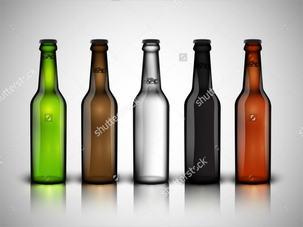 Realistic Beer bottle Vector