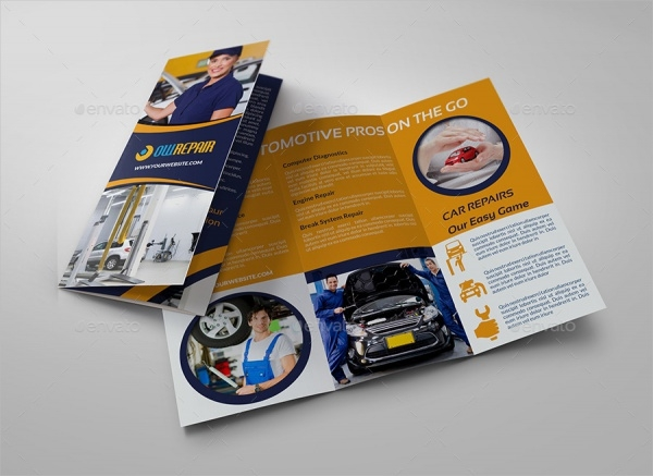 Realistic Brochure for Car