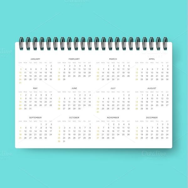 Realistic Event Calendar