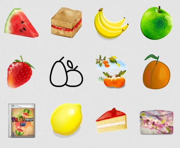 Realistic Fruit Icons For Desktop