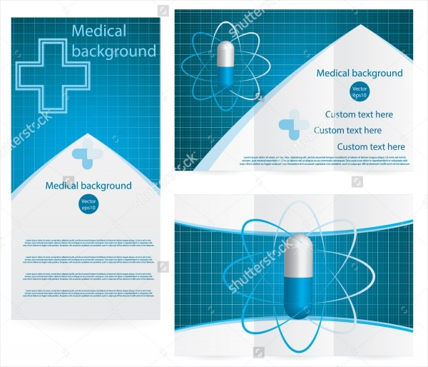 Realistic Hospital Half Fold Brochure
