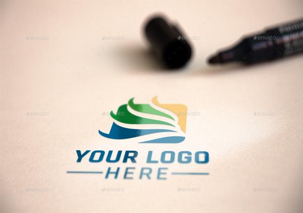 Realistic Logo Presentation Mockup