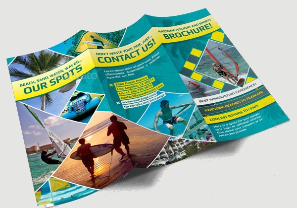 Realistic PSD Brochure for Holiday