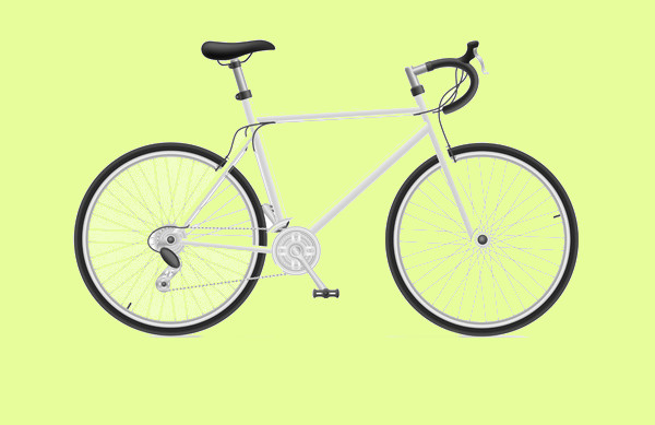 Realistic Sports Bicycle Vector