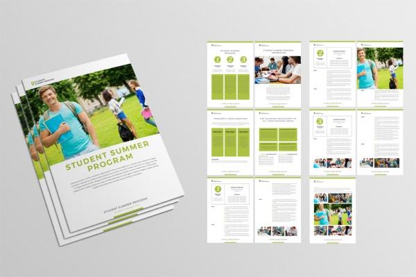 Realistic Summer Program Brochure Design