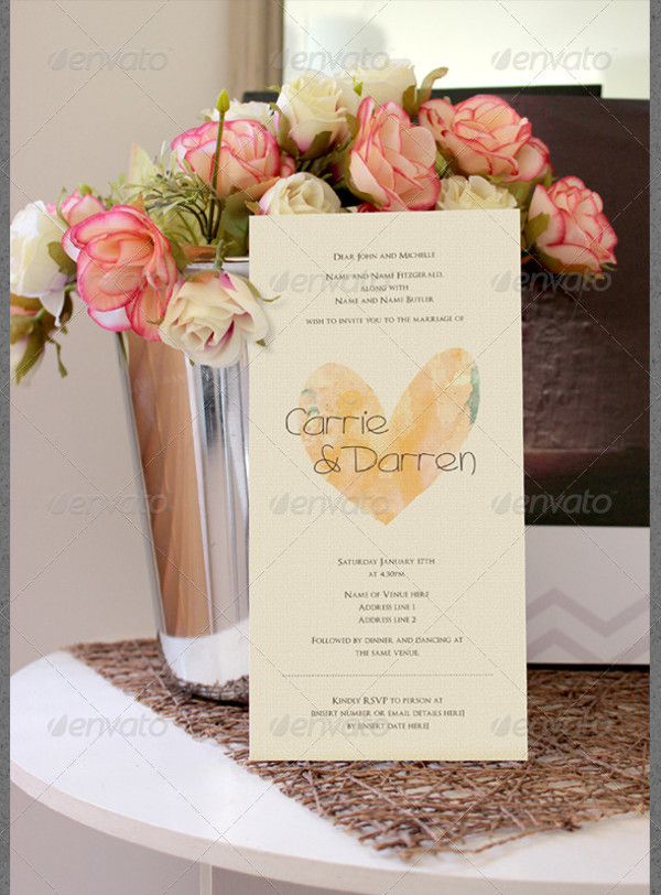 Realistic Wedding Invitation Card Mockup