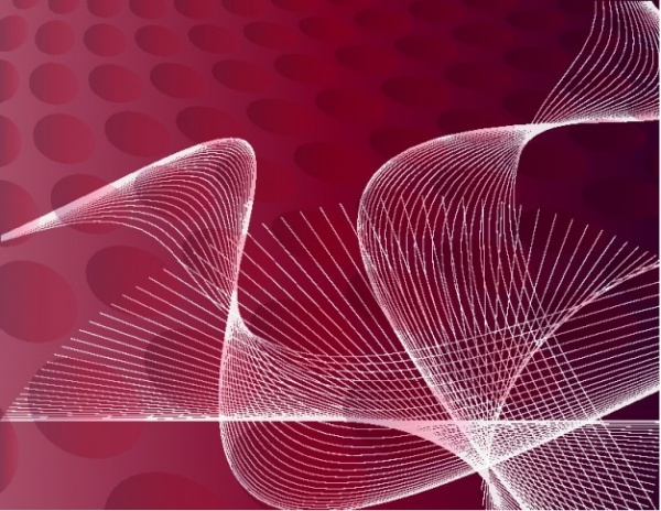 Red Background Vector With Swooshes