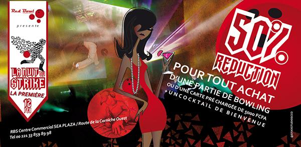 Red Bowl Sea Plaza Bowling Invitation