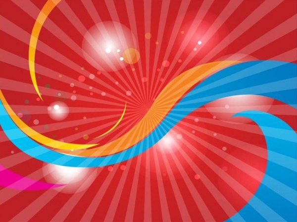 Red Swoosh Background Vector