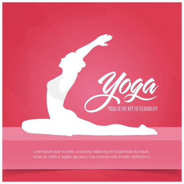 Red Yoga Background Vector