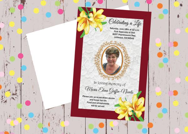 Religious Memorial Celebration Invitation