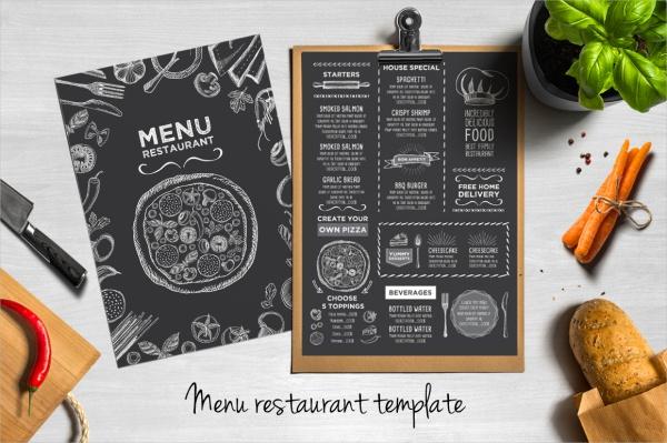 restaurant chalkboard flyer