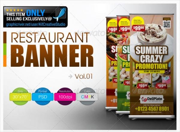 Restaurant Stand Banner