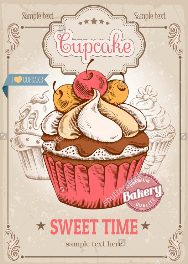 Retro Bake Sale Poster