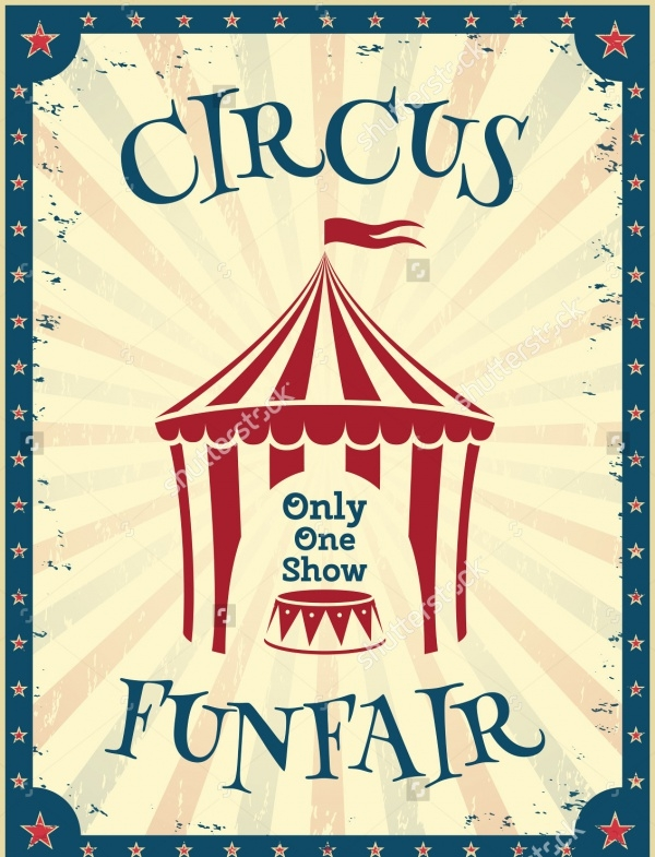 Retro Circus Flyer Template