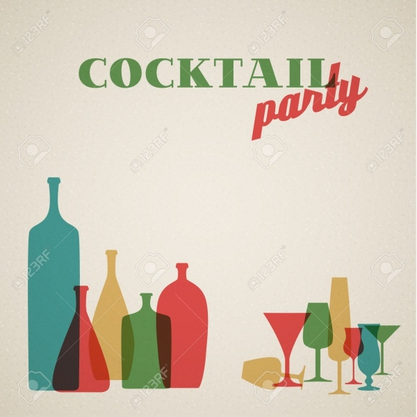 Retro Cocktail Invitation With Bottles