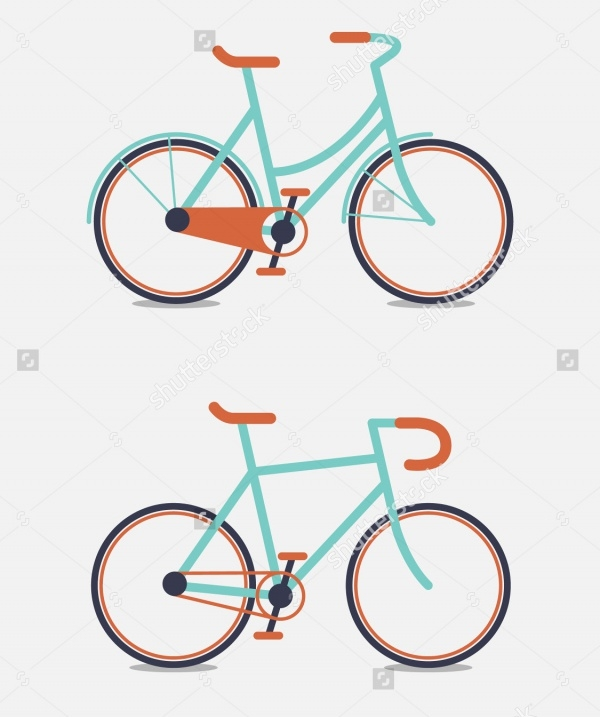 Retro Design Vector Bicycle
