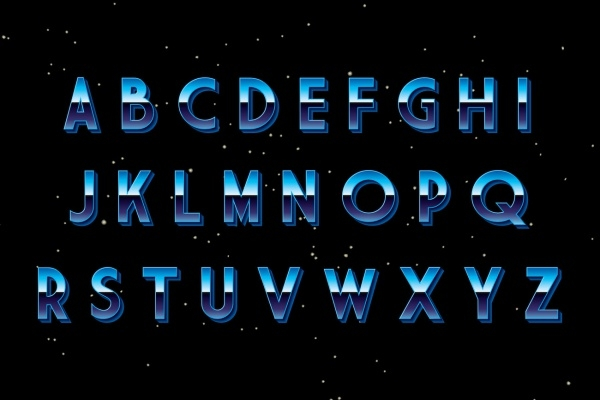 Retro Disco Font Design