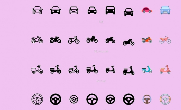 Retro Model bike icons
