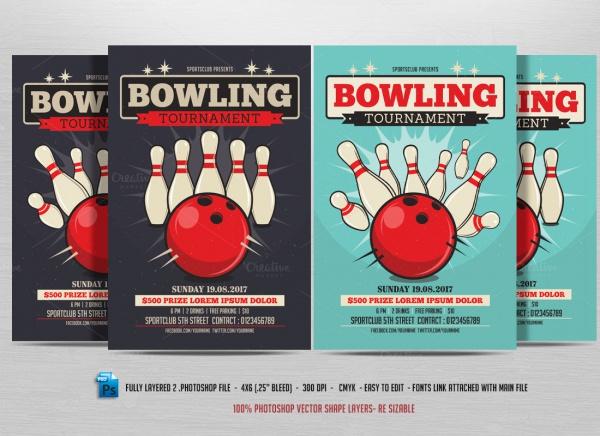 Retro Union Bowling Flyer