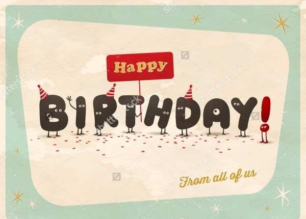 Retro Vintage Birthday Vectors