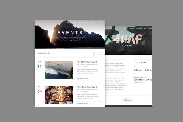 Risen Event Calendar Design